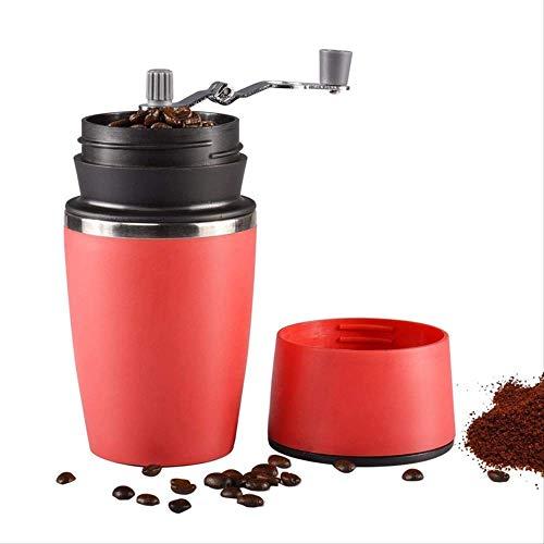 Draagbare Handmatige Koffiebonen Grinder, Verstelbare Single Cup Koffiemachine Keramische Burr Koffiemolen Mok met Ingebouwde Grind