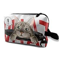 化粧ポーチ 財布 筆箱 猫 なに かわいい 防水 化粧袋 おしゃれ トラベルポーチ メイクバッグ 小物収納 旅行グッズ 海外 旅行 出張