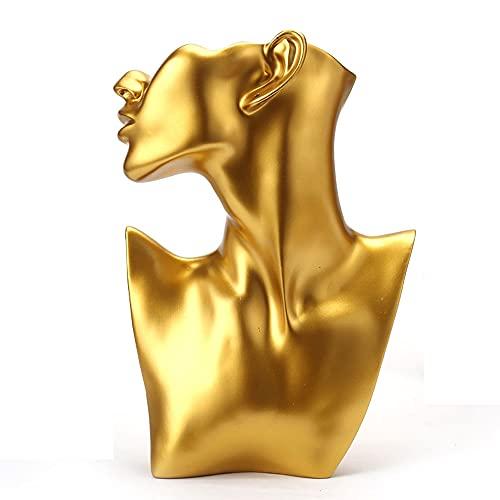 Estante de exhibición de joyería de tienda de modelos, organizador colgante de pendiente, estatuillas de talla de estatuas, estatua de resina de escultura facial