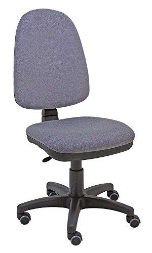 La Silla de Claudia - Silla giratoria de escritorio Torino gris oscuro para oficinas y hogares ergonómica con ruedas de parquet