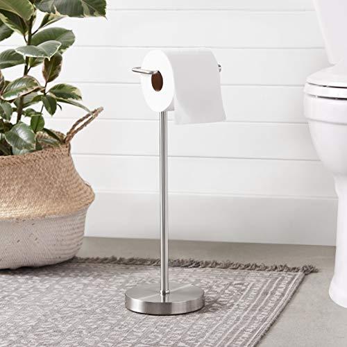 AmazonBasics Bathroom Accessory Collection - Toilet Paper Holder, Matte