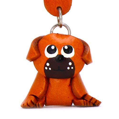 Monkimau Schlüsselanhänger Mops Hunde Figur aus Leder