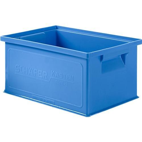 SSI Schäfer Stapelkasten 14/6-3, Kunststoff, 7 l, blau