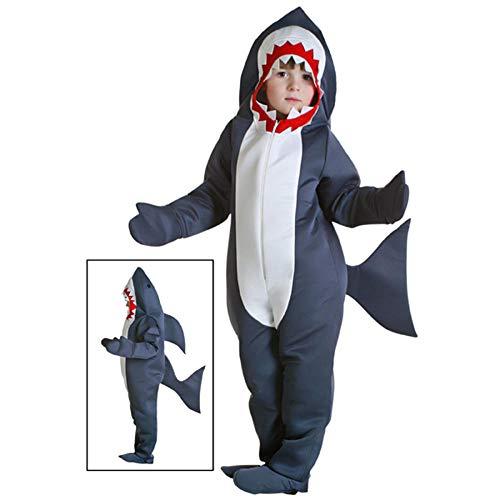 Disfraz de Halloween para niños Disfraz de tiburón Niño Mono de tiburón gris Fiesta de cumpleaños de animales Niñas Niños Purim Cosplay