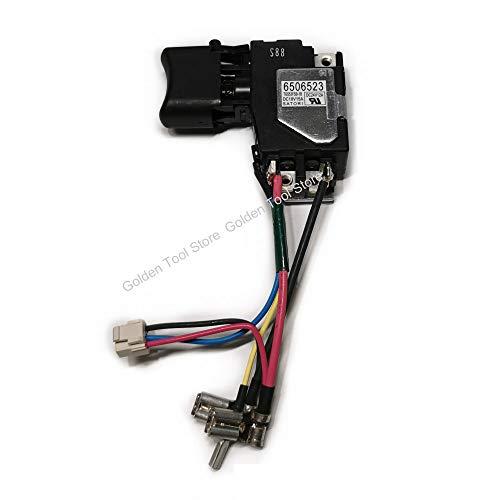 MQEIANG Switch 6506523 6506523 650652-3 para Makita BTW250RFE BTW251RFE DTW251RFE BTW250 DTW250 DTW251Z DTW251RMJ BTW251Z DTW251 BTW251 BTS130