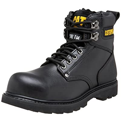 Caterpillar Men's Second Shift Steel Toe Work Boot, Black Full Grain, 10.5 W US