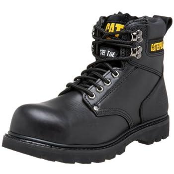 Caterpillar Men s Second Shift Steel Toe Work Boot Black Full Grain 9 M US