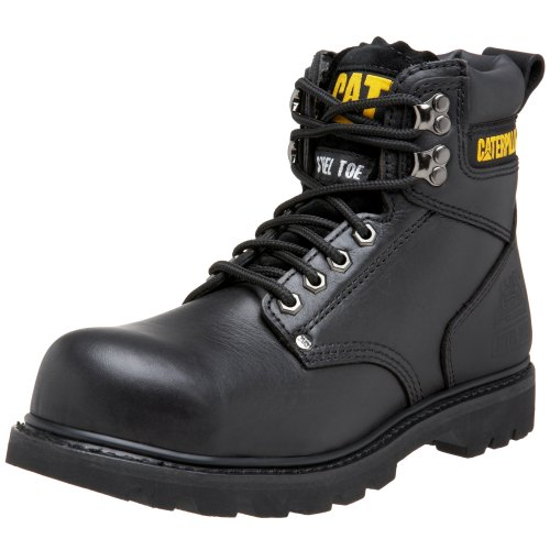 Caterpillar mens Second Shift Steel Toe Work industrial and construction boots, Black Full Grain, 10.5 US