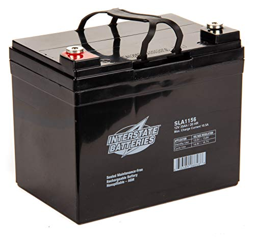 Interstate Batteries 12V 35AH SLA battery, Insert Terminal (SLA1156)