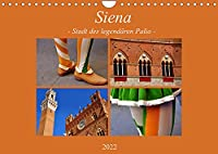 Siena - Stadt des legendaeren Palio (Wandkalender 2022 DIN A4 quer): Einmal im Jahr ist Siena voll von Touristen und Einheimischen. Schon am fruehen Morgen ist es nahezu unmoeglich einen Parkplatz zu bekommen. Alles ist in Bewegung; Vorboten eines unglaublichen Spektakels. (Monatskalender, 14 Seiten )