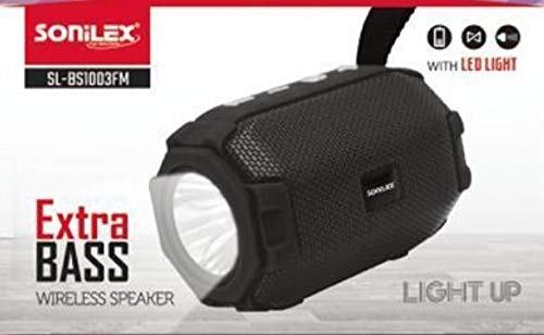 Sonilex Bluetooth Speaker with Torch Feature BS1003 TWS, re.and Answer Calls,tf Card Slot, fm,Chargeable with led Light