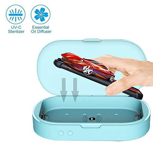hll-036 UV Desinfectante para Teléfonos Caja Joyería Cepillo de Dientes Reloj Limpiador Personal Esterilizador Desinfectante un Botón UV Esterilización