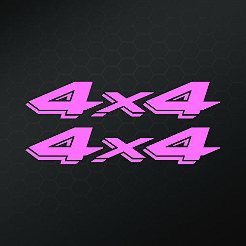 4 X 4 Vinyl Decals Stickers (Two Pack!!!)| Jeeps Trucks | Pink | 2-8 X 3.5 Inch Decals | KCD1025P