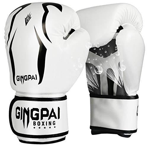 Generic Boxhandschuhe Sanda Handschuhe Erwachsene Weibliche Boxhandschuhe Kinder Professionelle Boxsack Junge Boxhandschuhe Männlich Skorpion weiß 8oz