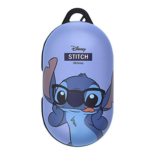 Stitch Compatible with Galaxy Buds Case Galaxy Buds Plus (Buds+) Case Protective Hard PC Shell Cover - Glasses Stitch