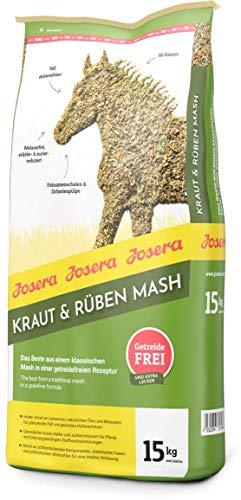 JOSERA Kraut & Rüben Mash (1 x 15 kg) | Premium Pferdefutter mit getreidefreier Rezeptur | hoher Leinsamenanteil | stärke- und zuckerreduziert | 1er Pack