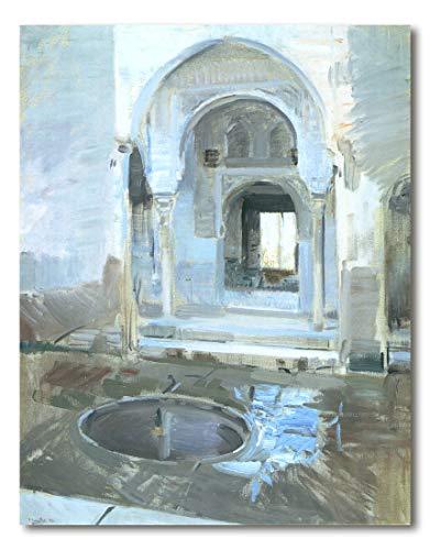 Cuadro Decoratt: Patio de la Justicia de la Alhambra - Joaquin Sorolla 62x79cm. Cuadro de impresión directa.