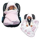 Callyna  - Couverture bébé enveloppante passe-sangle multi usage pour cosy, nid d'ange gigoteuse...
