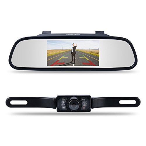 Backup Camera and Monitor Kit,Chuanganzhuo 4.3' Car Vehicle Rearview...