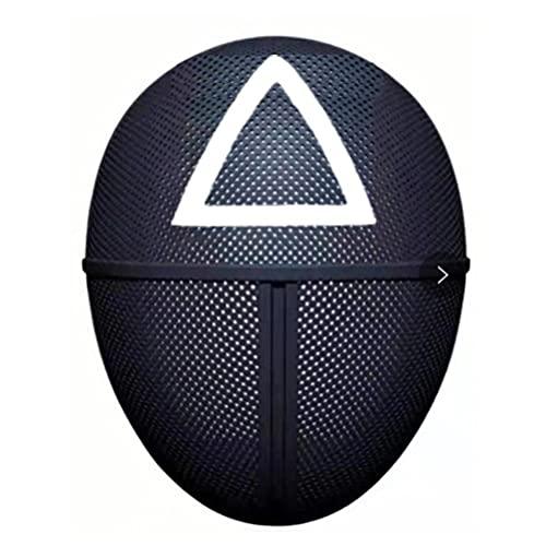 Squid Game Mask, Máscara de Juego de Calamar Hombre Enmascarado, Máscara de Látex Realista, Máscara de cosplay, 2021 TV Cosplay Masquerade Accesorios Halloween Props
