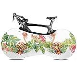 UQ Galaxy Funda para Bicicleta,Cubierta De Rueda De Bicicleta Tropical Flower Flamingo Bird, Fundas Prácticas De Bicicleta para Bicicletas Plegables O Bicicletas De Carreras