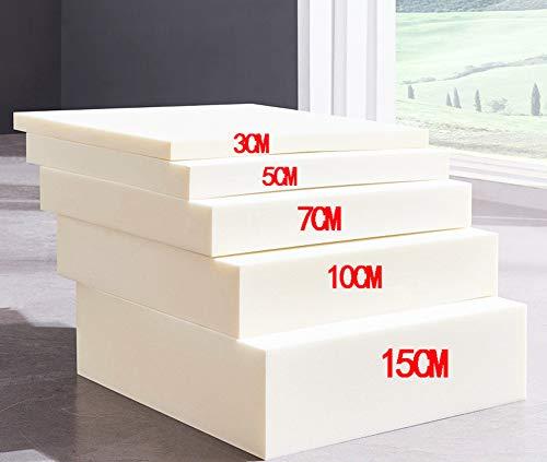 Espuma de tapicería, cojín de alta densidad para sofá de repuesto de espuma de memoria, almohadillas de asiento de banco de espuma de relleno, cortado a cualquier tamaño, 3/5/7/10 cm de grosor