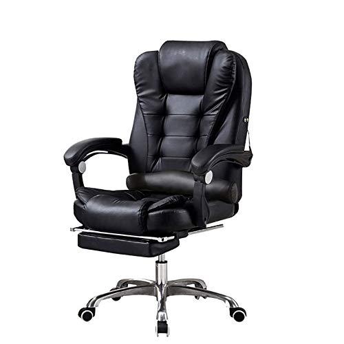 Silla de Oficina Giratoria Silla de cuero de la oficina, ordenador Ejecutivo silla de escritorio Función Permite ajustar la altura del asiento, de 360 grados de rotación de la polea libre, Ala grues