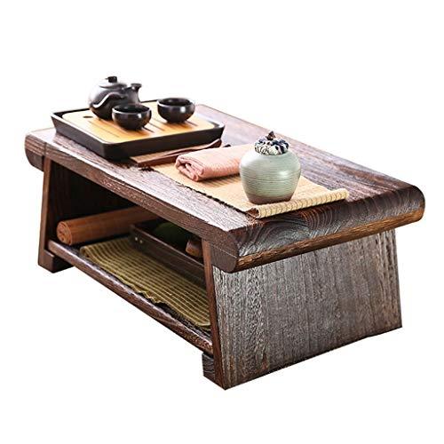 Tavolino Tavolo in Legno Massello Tavolo Tatami Vintage Elegante Tavolino Pieghevole Tavolo Zen Giapponese Semplice Tavolino da Balcone (Size : 60x35x23cm)