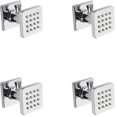 Enga Solid Brass Shower Body Spray Spa Massage Wall Jets, Flow Can Be Controlled, Showerhead Can Swivel
