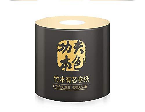 4 Lagen Bamboe Pulp Natuurlijk Gevulde Huidvriendelijke Rolpapier Huishoudelijk Toiletpapier Servetten Toiletpapier (20 Rollen) - Originele Ecologische Kleur