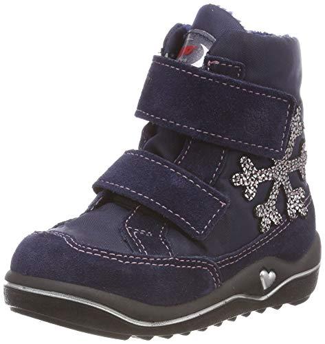 RICOSTA Mädchen HILDI Hohe Sneaker, Blau (Nautic/Marine 171), 25 EU
