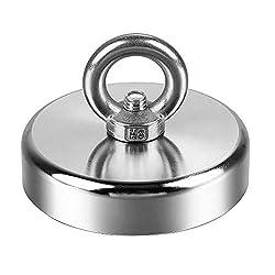 [Zugfestigkeit] -Durchmesser 75 mm, Dicke 15 mm, maximale Zugkraft des Magneten von 230 kg, kann unter idealen Bedingungen direkt kontaktiert werden. [Höchste Qualität] -Nickel-Kupfer-Nickel-Dreifachbeschichtung und hochwertige Herstellung. Rostet ni...