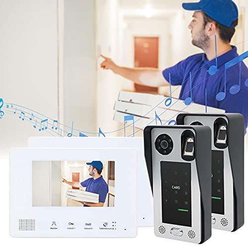 BJH Videoportero, Timbre con Video, 2 Cables para residencial para apartamento para Villa para Negocios