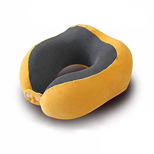 Almohada magnética para el cuello de viaje de tela, soporte para la barbilla para el cuello, avión portátil al aire libre, coche para adultos, oficina en casa d
