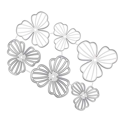 PH PandaHall 1 pc Metal Cutting Dies Stencil, Carbon Steel Scrapbooking Dies Cuts Scrapbooking Die Cuts Flower Shape Stencils Template Embossing for DIY Scrapbooking Card Making Easter Decoration