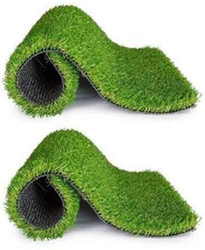 CHETANYA High Density Artificial Grass for Balcony Garden,Artificial Grass Carpet, Artificial Grass mat for Balcony Floor mat, Door mat, Artificial Grass (2 X 1 Feet Set of 2 Pcs)