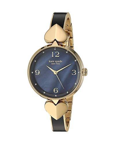 Kate Spade Hollis 3-Zeiger-Armbanduhr KSW1563 aus schwarz emailliertem goldfarbenem Edelstahl