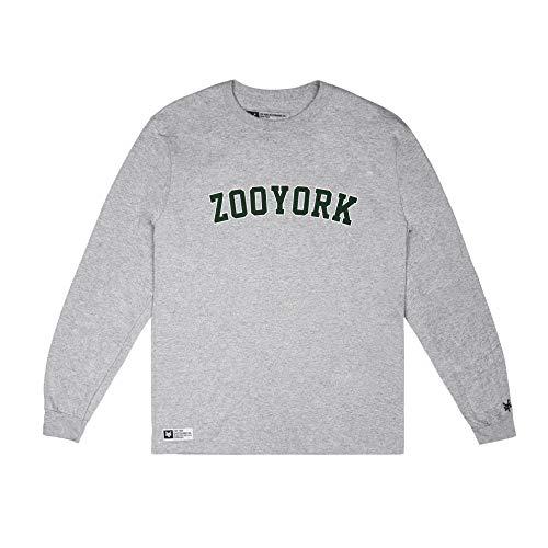 Zoo York Zyny Maglia a Maniche Lunghe, Grigio (Sport Grey Spo), X-Large Uomo