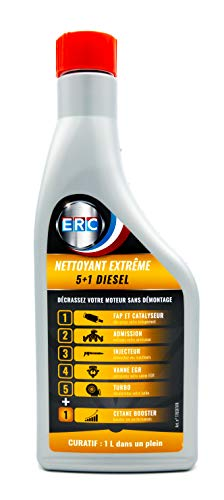 ERC Nettoyant Extrême 5+1 Véhicule Diesel Décrasse Totalement Votre Moteur/Idéal Avant Contrôle Technique - Additif Premium (1l)