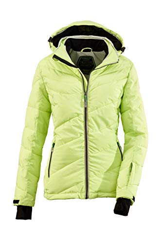 Killtec Damen Ocisa Skijacke In Daunenoptik Mit Abzippbarer Kapuze Und Schneefang, 10.000 Mm Wassersäule, frühlingsgrün, 44