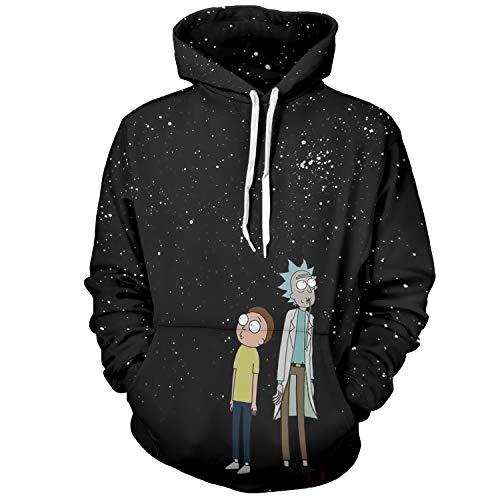 Unisex Funny Graphic Printed Sweatshirts Casual 3D Printed Hoodies (3DWY111,M) Black