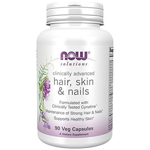 NOW Solutions, Hair, Skin and Nails, Clinically Advanced, Support with Clinically Tested Cynatine®, 90 Veg Capsules