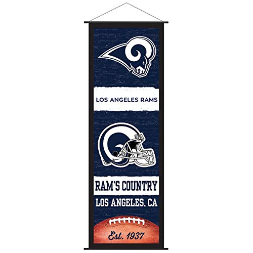 Los Angeles Rams Banner and Scroll Sign