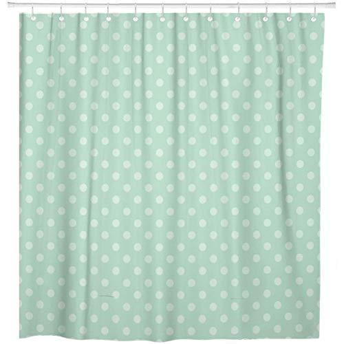 ZYJCC Duschvorhang Blue Polka Mint Green Pattern Pastell Abstract Weihnachtsduschvorhang Wasserdicht Mit Haken