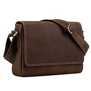Kattee Leather Briefcase Business Messenger Bag