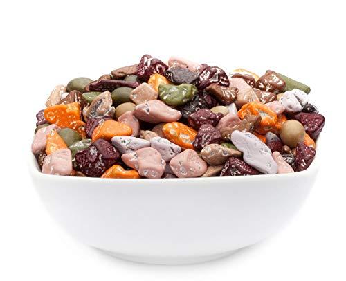 1 x 5kg Farbige Schoko Kieselsteine aus Kakaobutter mit Zuckerguss glutenfrei ohne salzzusatz