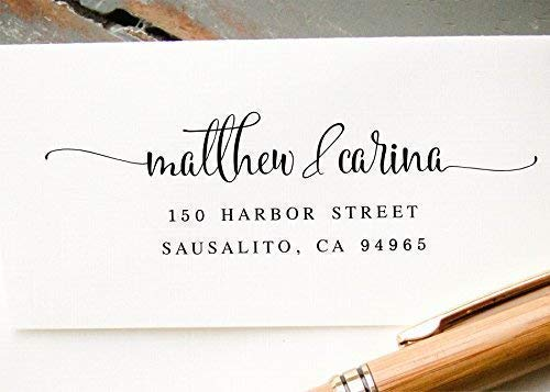 Self-Inking Return Address Stamp Save the Date Stamp Wedding Invitation Stamp Pre-Inked Custom RubberStamp