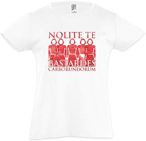 Urban Backwoods Nolite Te Bastardes Carborundorum Camiseta para Niñas Chicas niños T-Shirt