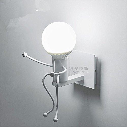 JJZHG wandlamp wandlamp creatieve persoonlijkheid woonkamer slaapkamer nachtlampje villain gang kinderkamer wandlamp 14 * 27 * 18cm omvat: wandlampen, wandlamp met leeslampje