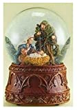 Christmas Nativity 120MM Musical Snow Globe Glitterdome with Carved Wood Base - Plays Tune...